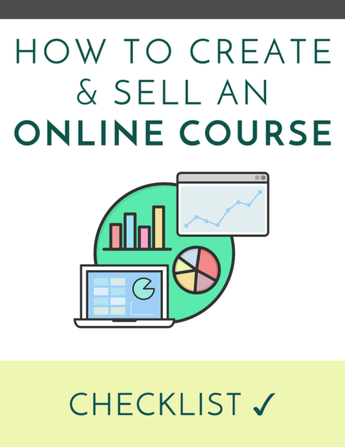 how to create and sell an online course checklist