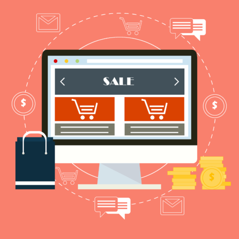 graphic of shopping cart website